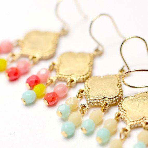 Little Boho in rilievo dorato lampadario orecchini - Scegli uno