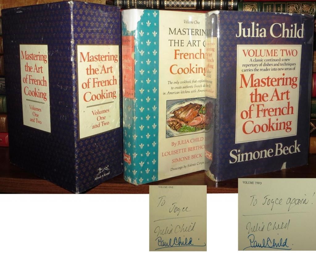 Mastering the Art of French Cooking signed by Julia Child!