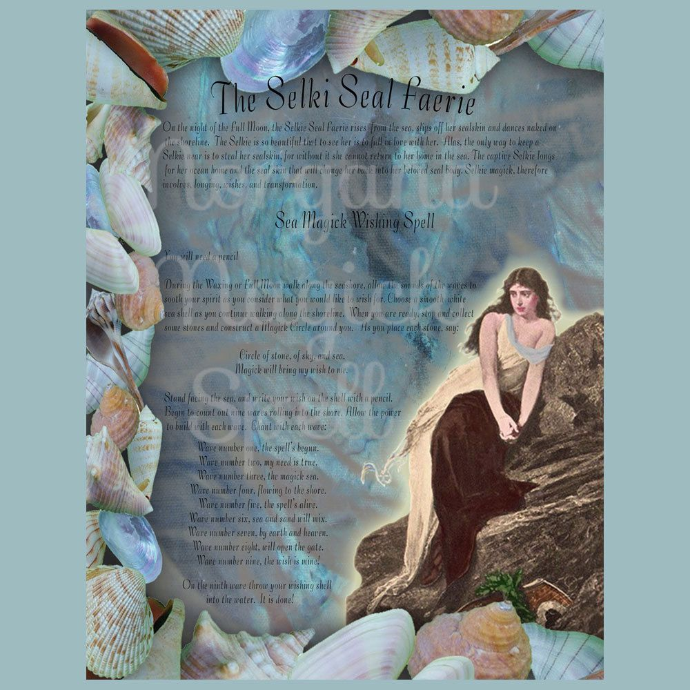 SELKIE WISHING SPELL Realm Of The Fey Lore Printable Book