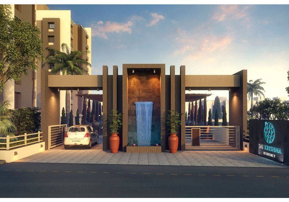 Entrance gate design for township buscar con google mi for Modern house entrance gate designs