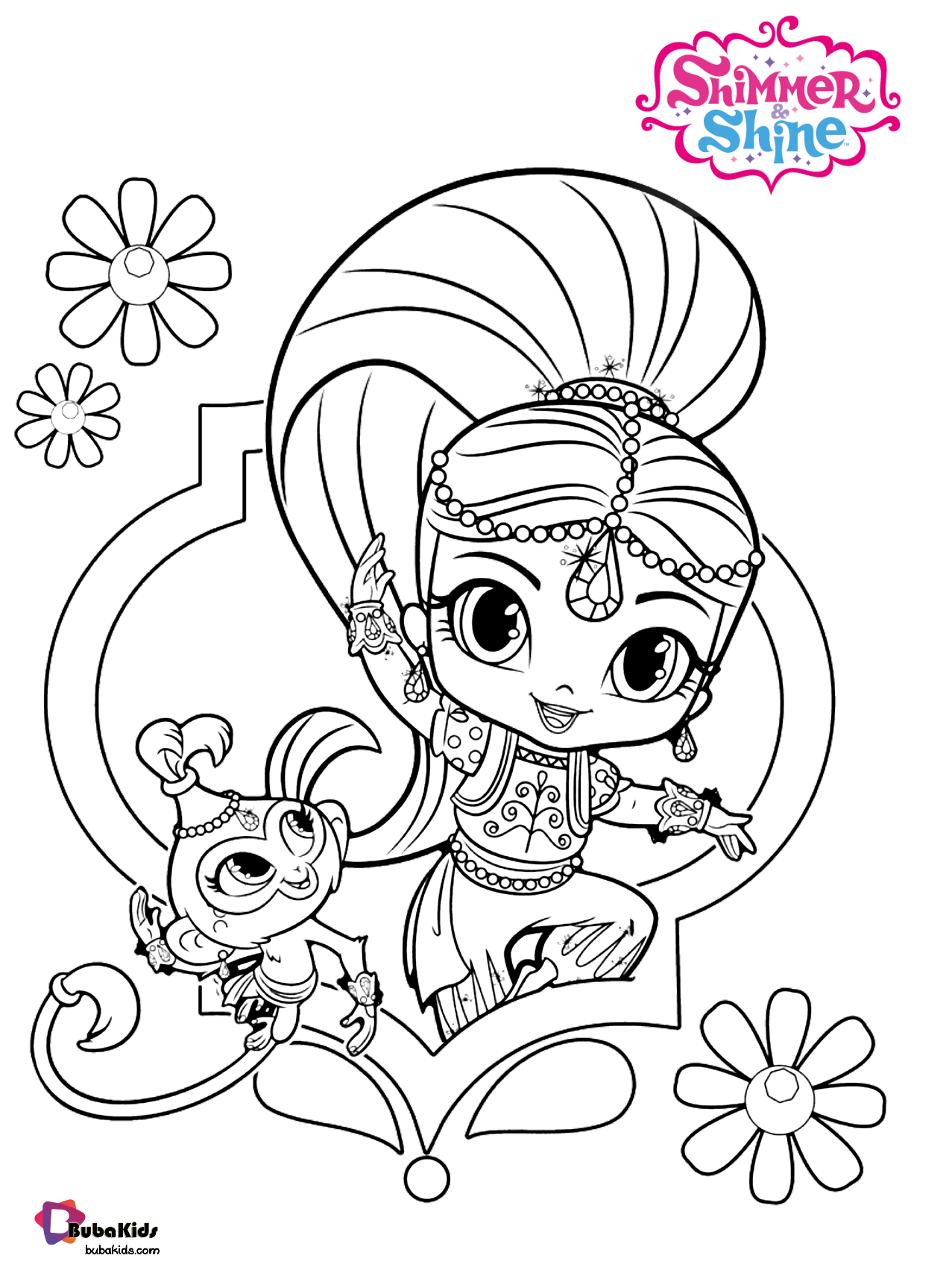 Nick Jr Shimmer And Shine Free Download And Printable Coloring Page Collection Of Ca Monkey Coloring Pages Coloring Pages Inspirational Cartoon Coloring Pages