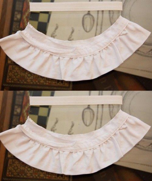 chanel ruffle cuffs - cut ribbon and elastic