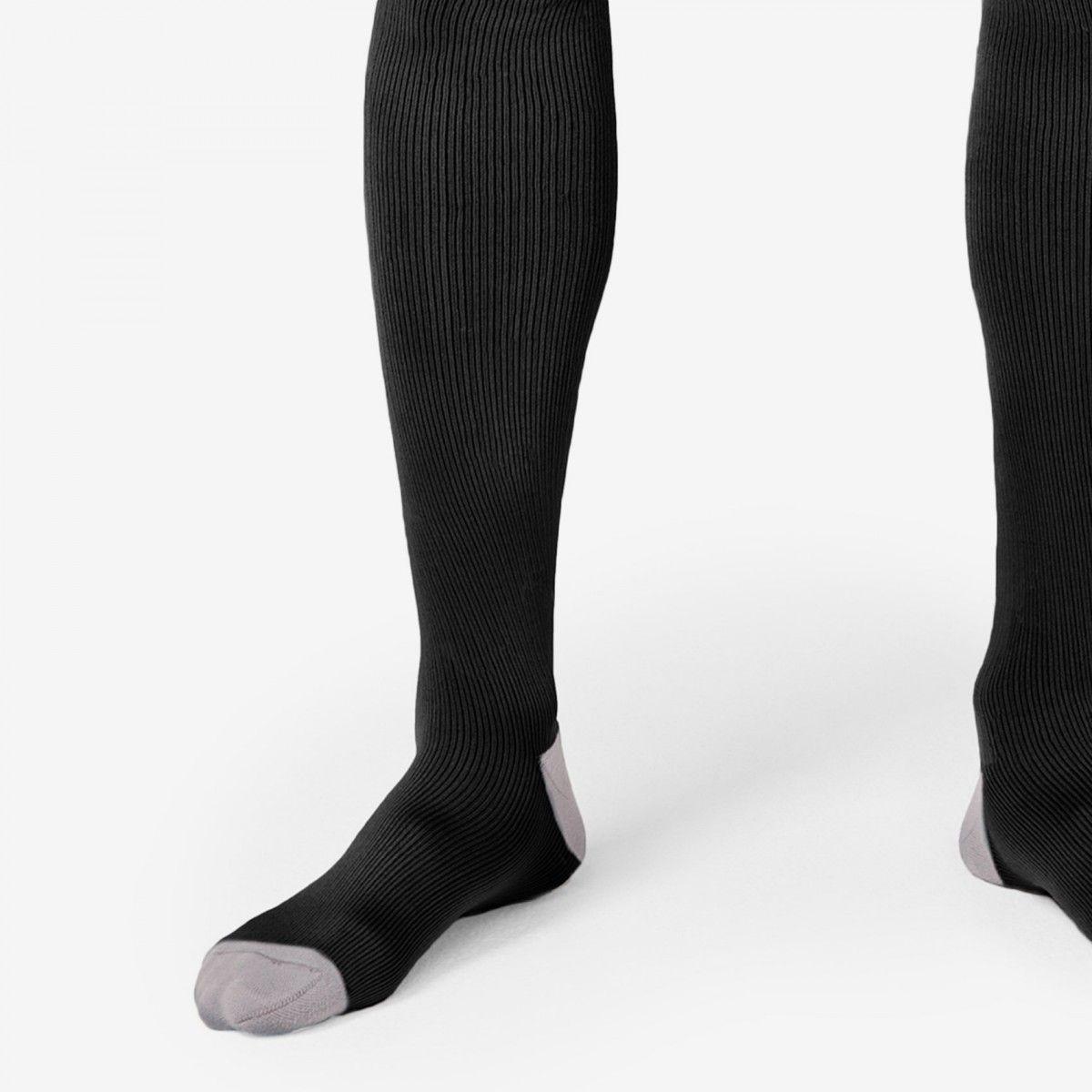 men's Compression Socks black logo XL / Black Socks