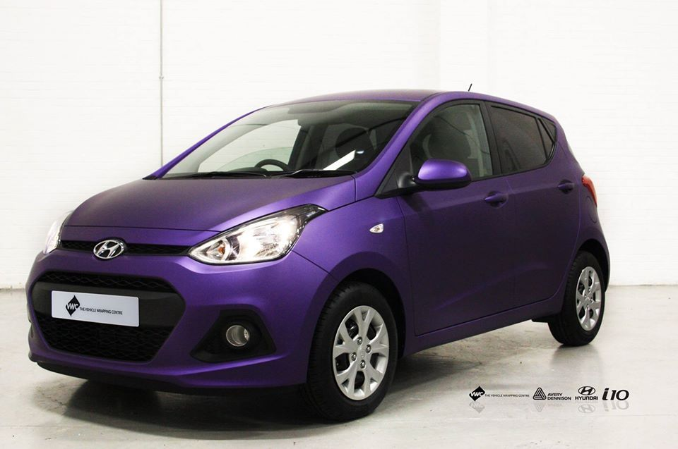 Hyundai I10 Avery Matte Metallic Purple Personal Vehicle Wrap