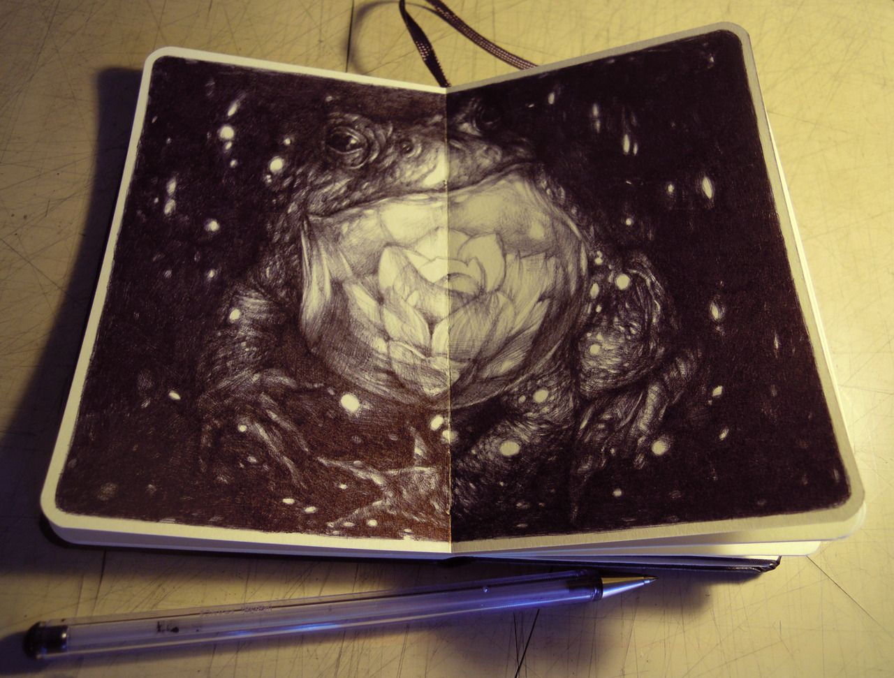 Marco Mazzoni - the lighthouse on moleskine (pen). Pin by www.povetx.de
