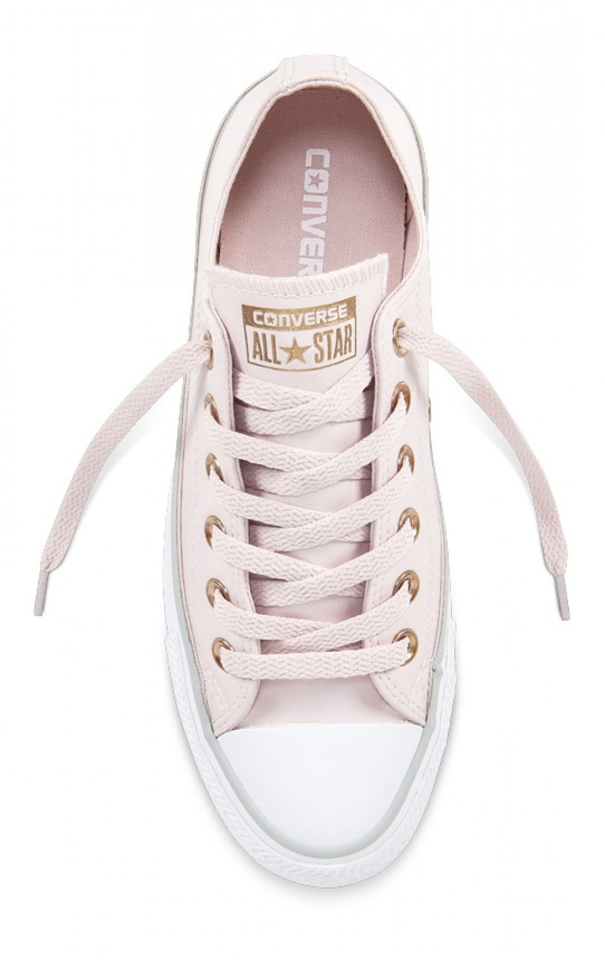 7c402ed128b2 Converse Chuck Taylor All Star Women s Leather Low Top Barely  Rose White Mouse 559945C