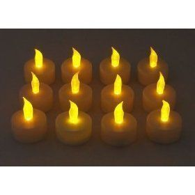 12 Flickering Candle Set Runs on Batteries Flickers Like a ...