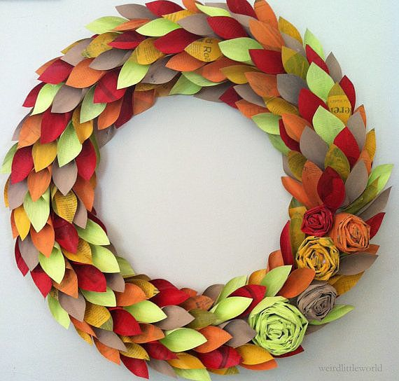 It S Finally Wreath Season See 9 Of Our Favorites Paper Wreath Wreath Crafts Fall Wreaths