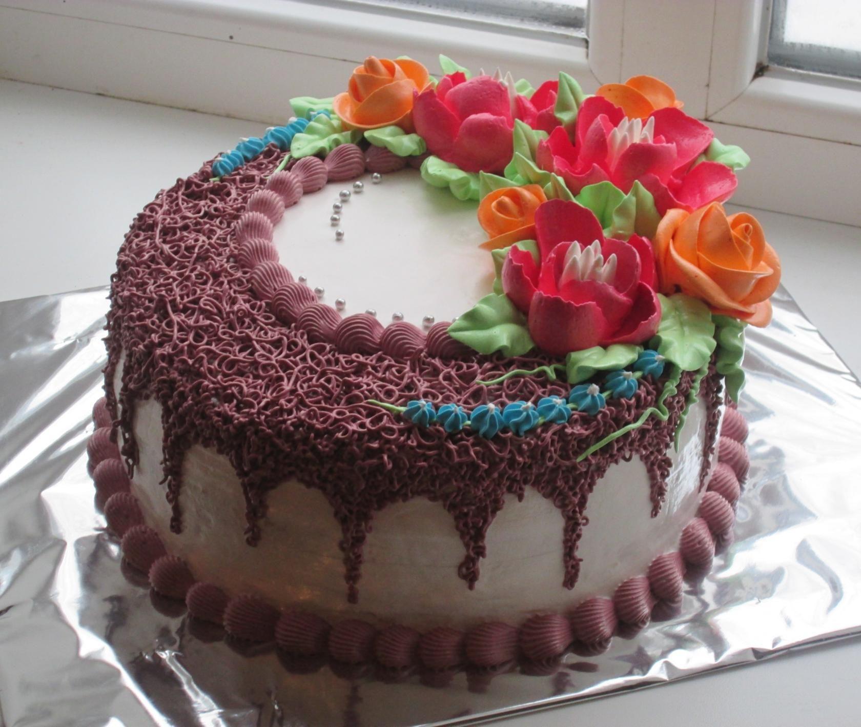 Личное фото | Кремовый торт, Торт и Украшение тортов