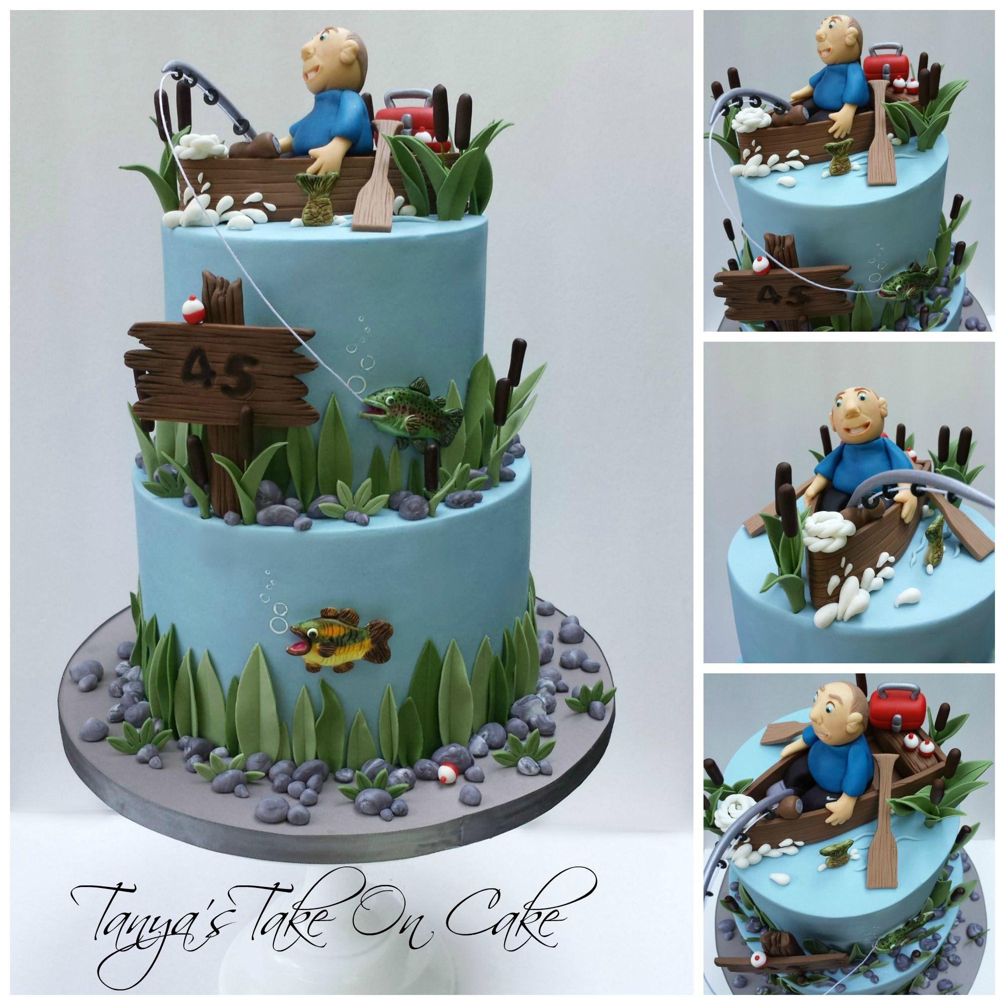 Cake Decorations Fishing Theme : Gone fishing birthday cake. Fishing themed birthday cake ...