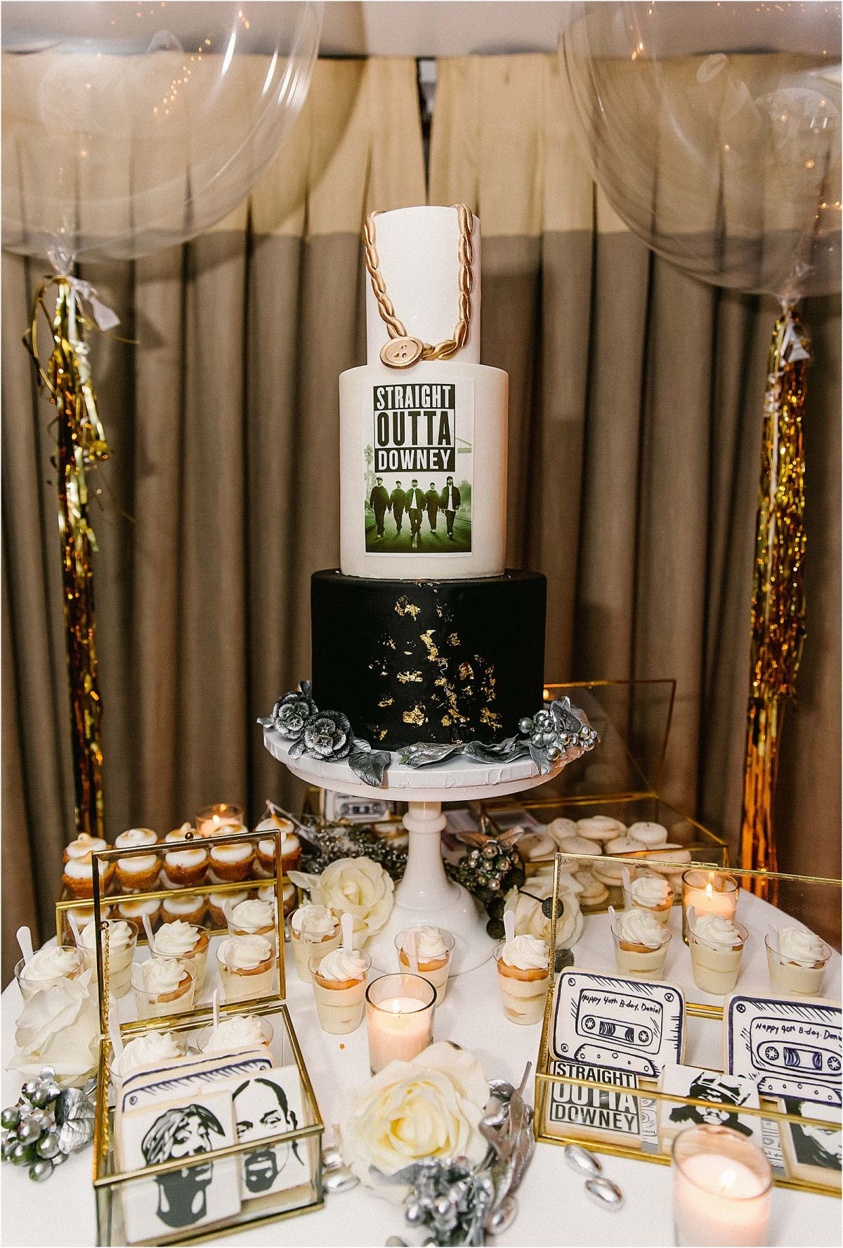 Men's 40th Birthday Party Inspiration: 90's Hip Hop Straight Outta Compton | Mommy Diary ®