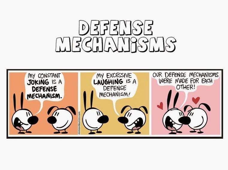 Os mecanismos de defesa são estratégias inconscientes que o sujeito usa para tentar reduzir a tensão e a ansiedade fruto dos conflitos . . .