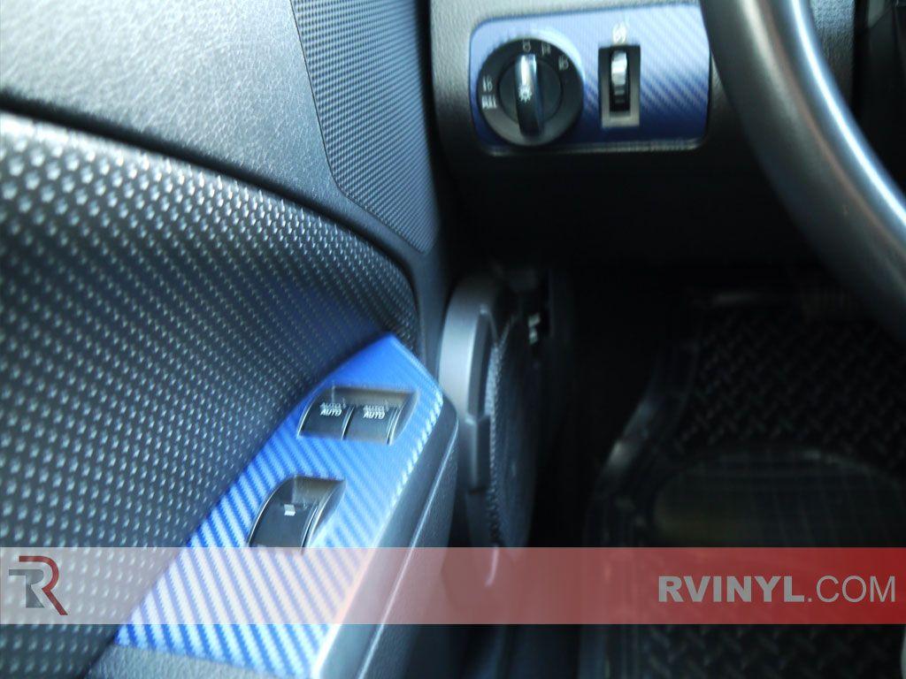 Blue carbon fiber mustang dash kits