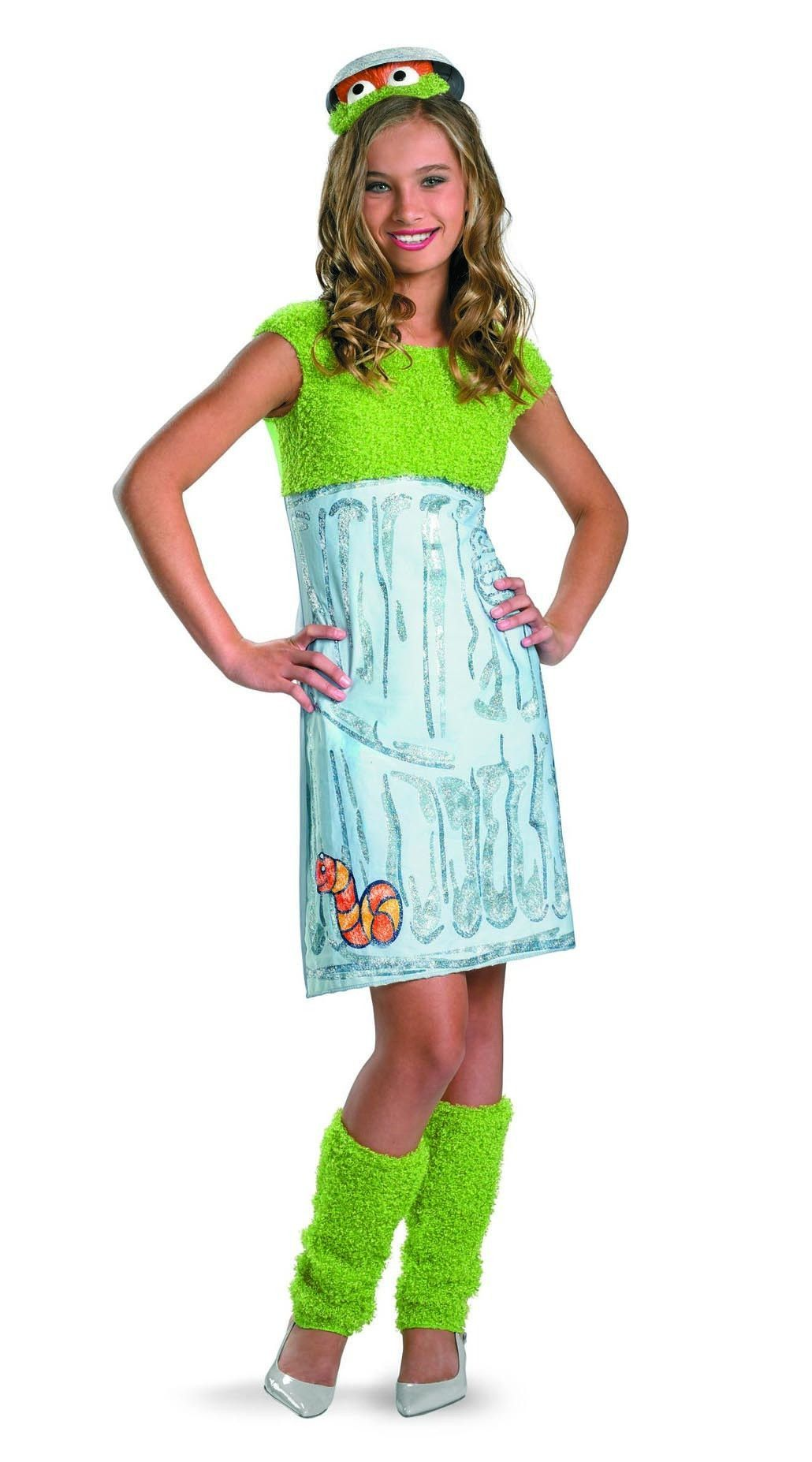LICENSED SESAME STREET OSCAR THE GROUCH ADULT WOMENS FANCY DRESS COSTUME