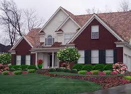 Design Front House Landscaping Red Brick House House Landscape