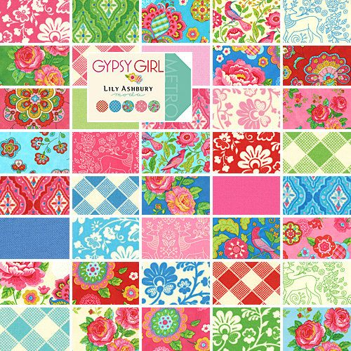 Moda GYPSY GIRL Charm Pack 5  Fabric Squares Lily Ashbury 11460PP ... : moda quilt fabric - Adamdwight.com