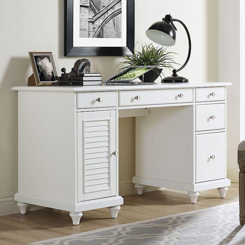 Crosley Furniture Palmetto Storage Desk In 2021 Desk Storage Crosley Furniture Storage