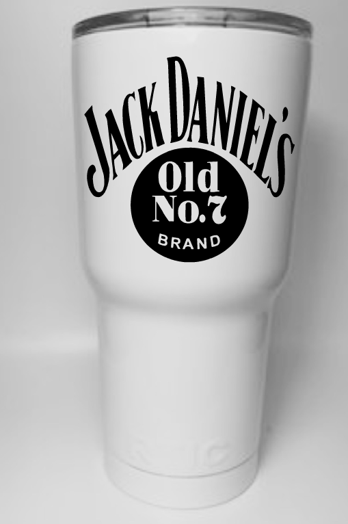 Jack Daniels Whiskey Tumbler Decal for YETI RTIC Mossy Oak Ozark or