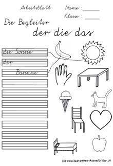Schreiben Grundschule | Schreibübungen | Arbeitsblätter