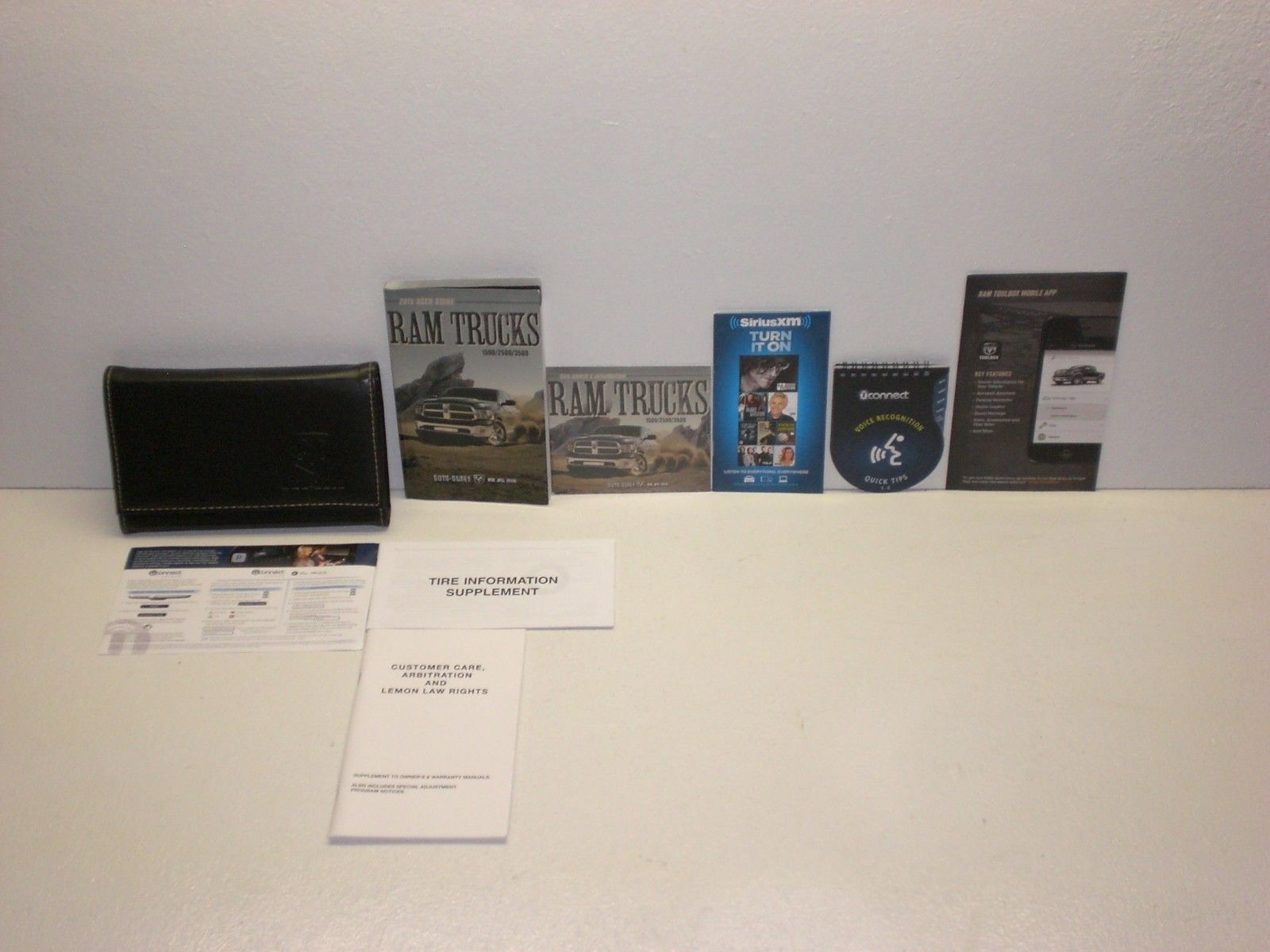 2015 Dodge Ram Trucks 1500/2500/3500 Owners Manual with DVD and Case - Set  (eBay Link)