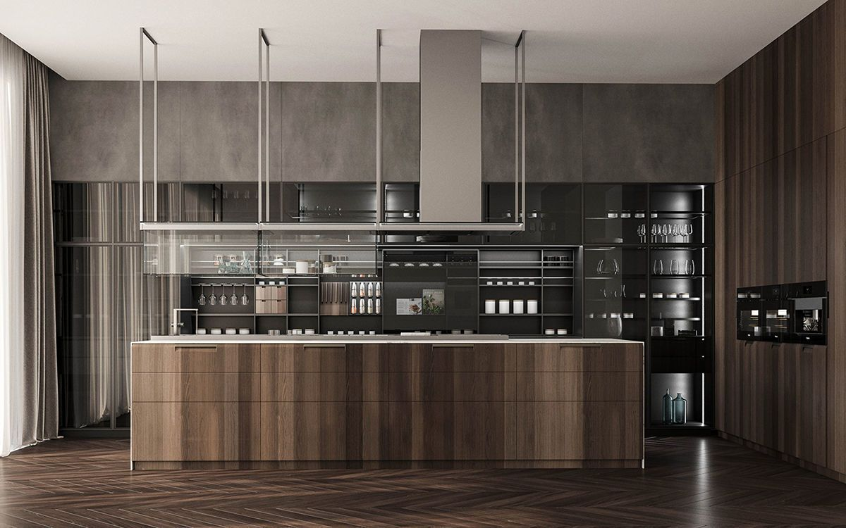 Kitchen Interior 3d Model Poliform Kitchen By Demyanova Kira Available In Autodesk 3ds Max O Kitchen 3d Model Kitchen Room Design Modern Kitchen Interiors