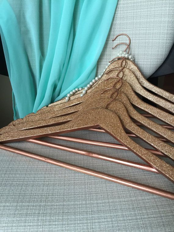 SIX Glitter Hangers, Bridesmaid Hanger, Wedding Hanger, Sparkle ...