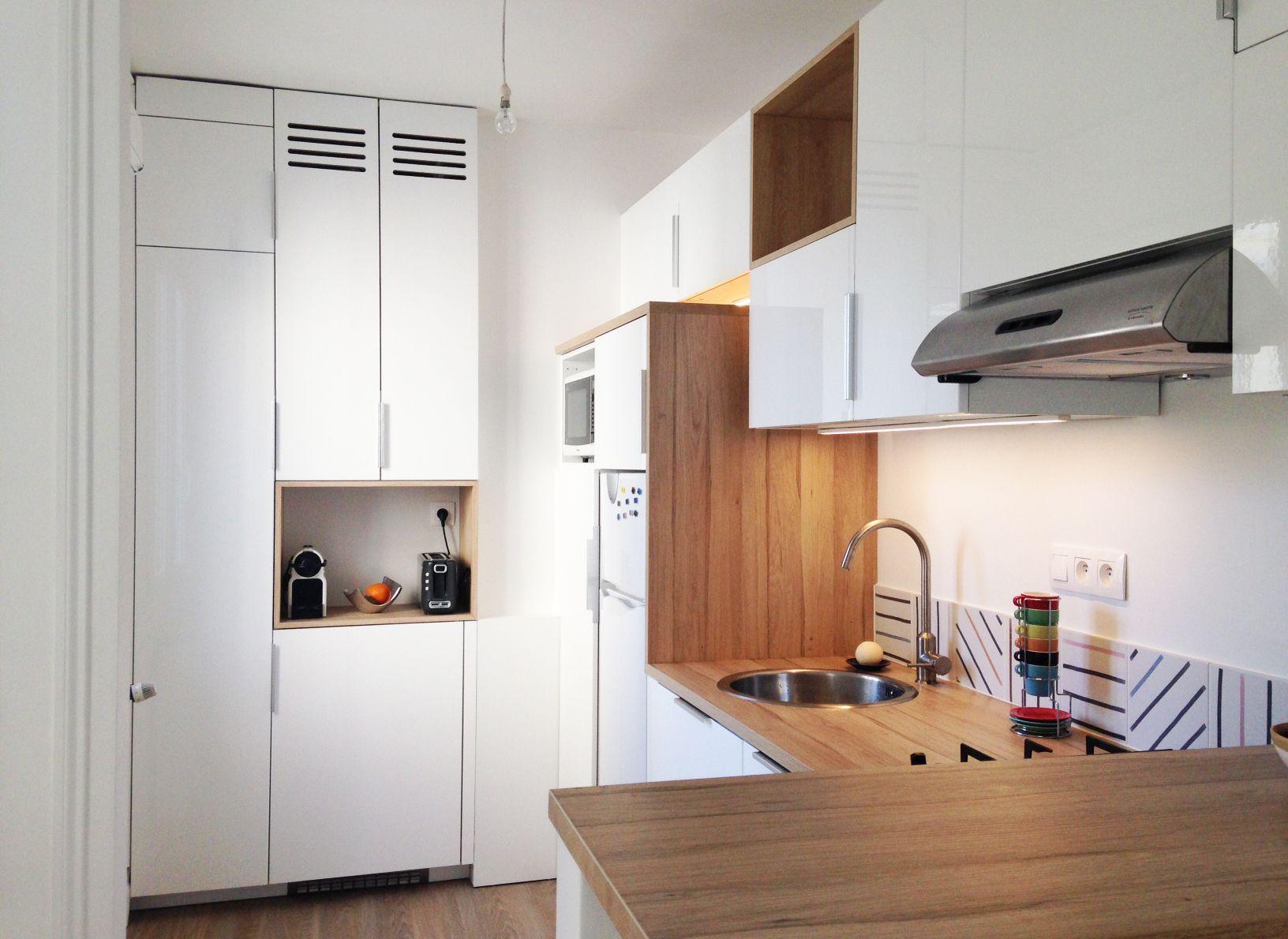 cuisine ikea laqu e blanche et stratifi ch ne d tails sur mesure pour placard chaudi re et. Black Bedroom Furniture Sets. Home Design Ideas