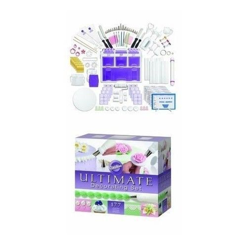 Cake Decorating Kit 177 Piece Professional Supplies Wilton ...