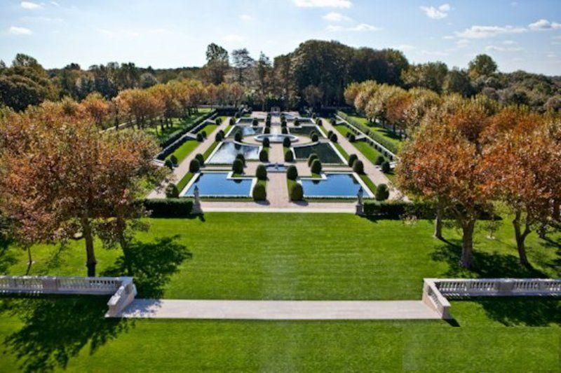 Autumn in the formal gardens oheka castle hotel and