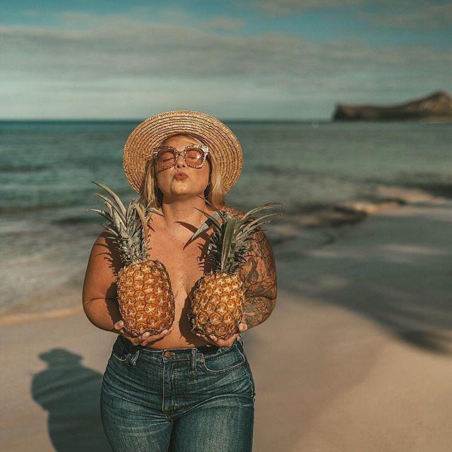 "@ashleerosehartley on Instagram: ""Tropic like it's hot. 🍍————————————————————— What's your favorite fruit to eat.... or wear? . . . . . #pineapple #radgirlslife #saltlife…"""