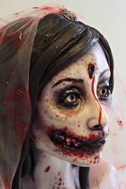 Bloody Bride Costume Makeup