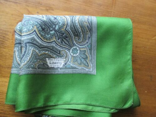 Liberty Of London Green Golden White 100 Silk Scarf W Paisley Print Made In Uk Ebay In 2020 Liberty Of London Paisley Print Made In Uk