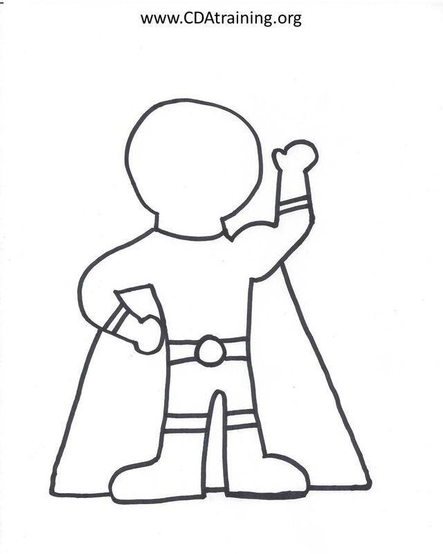 children to create their own super hero super hero
