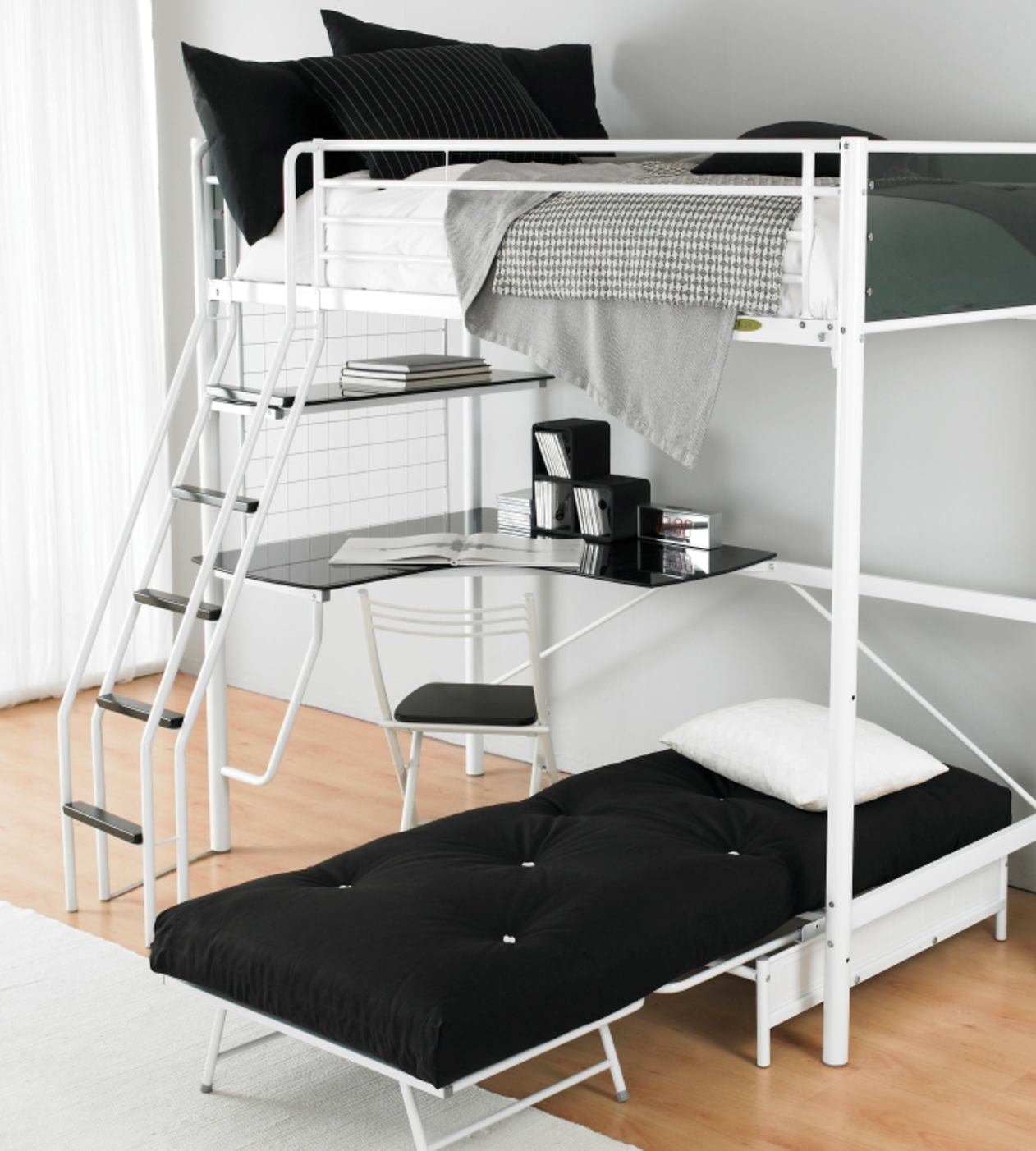 Storage Tips For Small Rooms Loft Bed With Couch Bunk