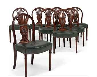 Prime A Set Of Eight Directoire Mahogany Dining Chairs C 1800 Pabps2019 Chair Design Images Pabps2019Com