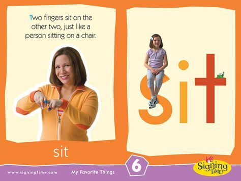 Sign Of The Week Sit Sign Language For Kids Homeschool Sign Language Learn Sign Language