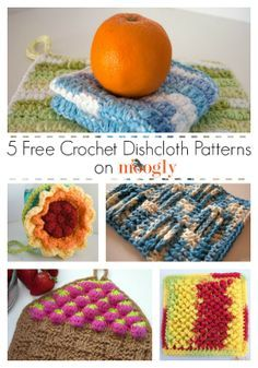Get 5 free #dishcloth crochet patterns - crochet should always come before cleaning, but this way you can have both! From mooglyblog.com