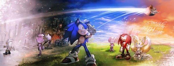 Sonic's 22nd birthday tribute fanart.