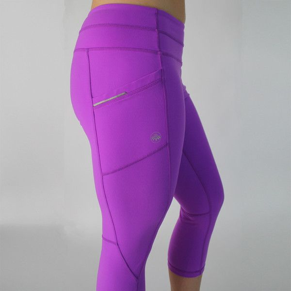 Pocket Capris - Fuchsia Two side pockets and a back zipper pocket ...