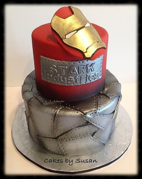 Cool Iron Man Cakes With Images Ironman Cake Marvel Cake