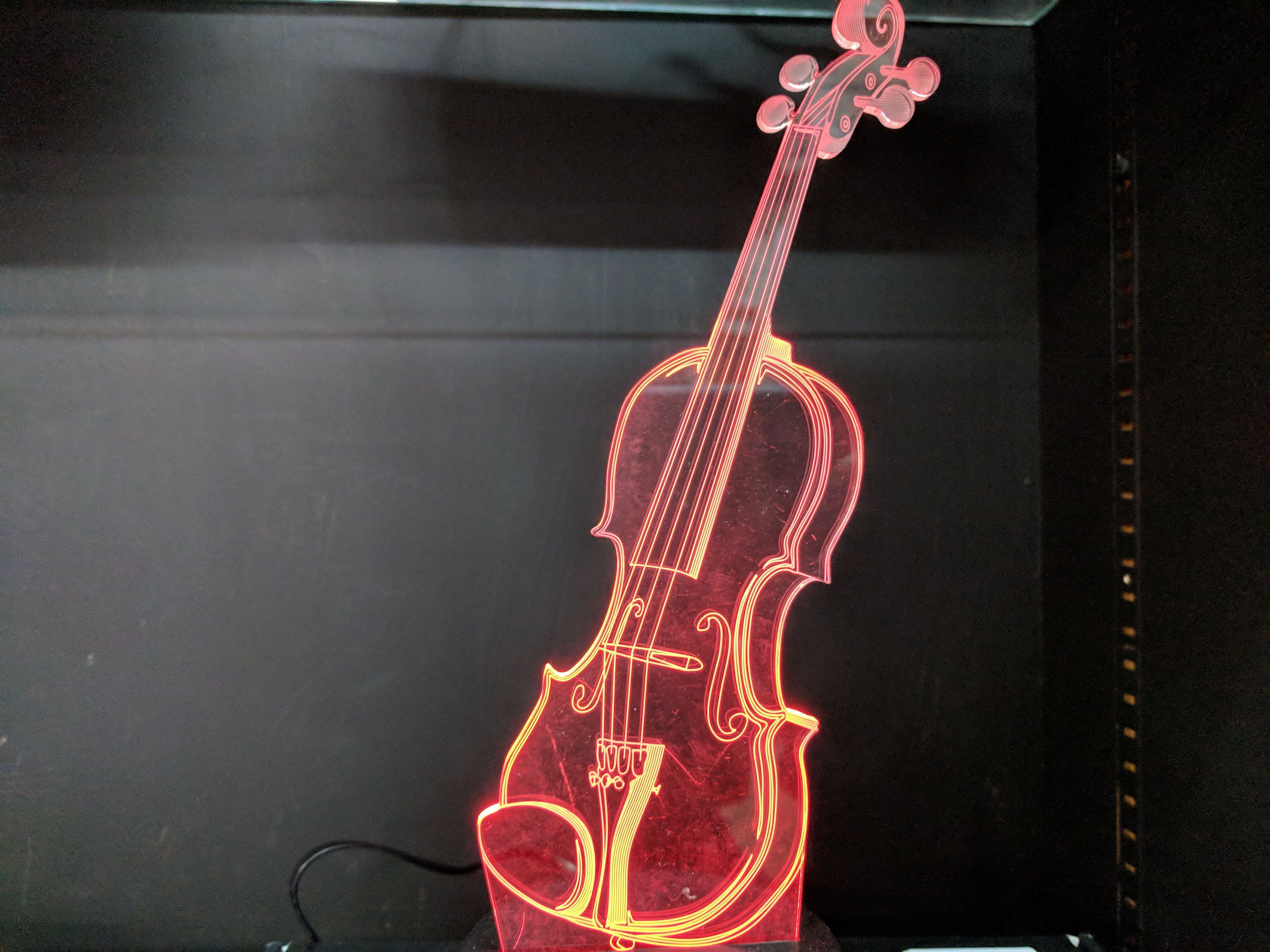 Acrylic 3d Illusion Music Instrument Led Glow Lamps Choose A Color Or Have Them Change Between Eight Different Colors 3d Illusion Lamp 3d Illusions Glow Lamp