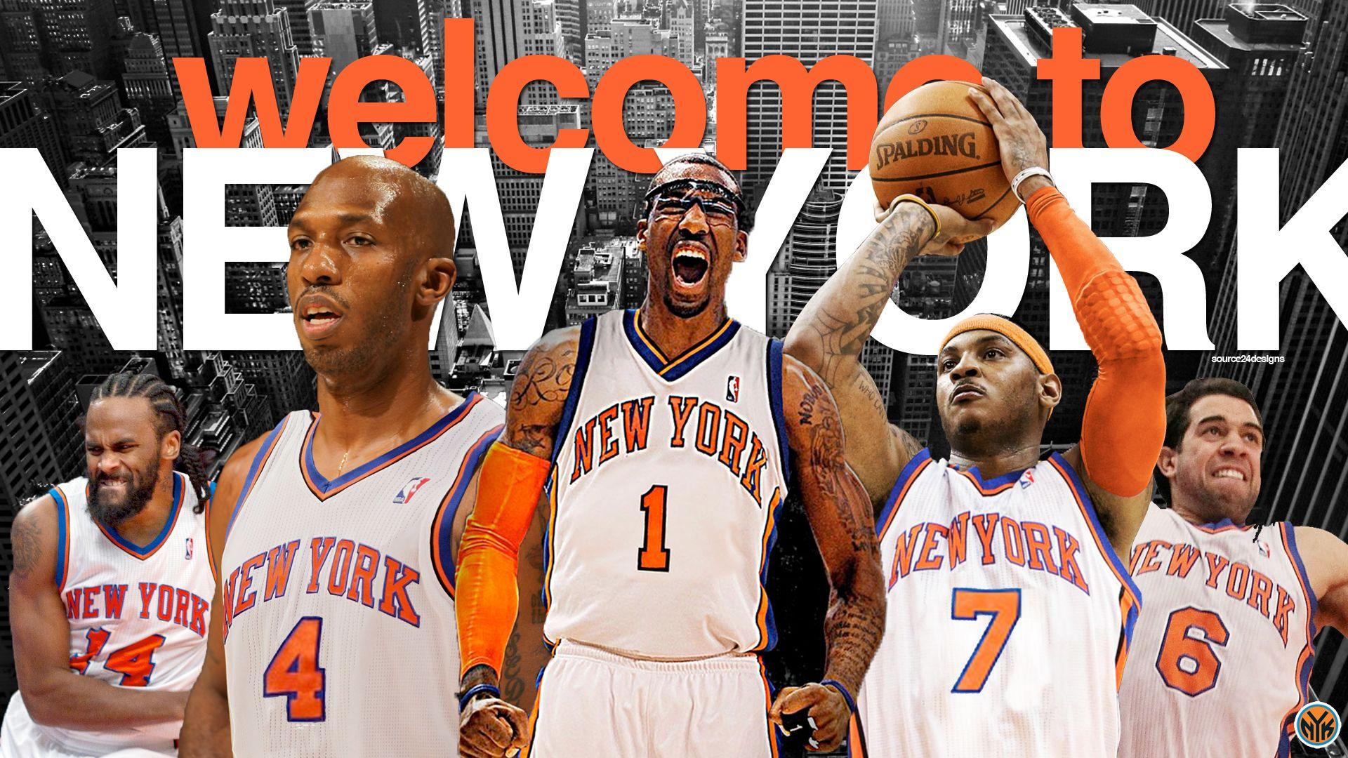 Nba Basketball New York Knicks: New York Knicks 2012 Team Wallpaper