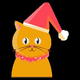 Christmas Hat Cat Icon Cat Icon Christmas Hat Graphic Image