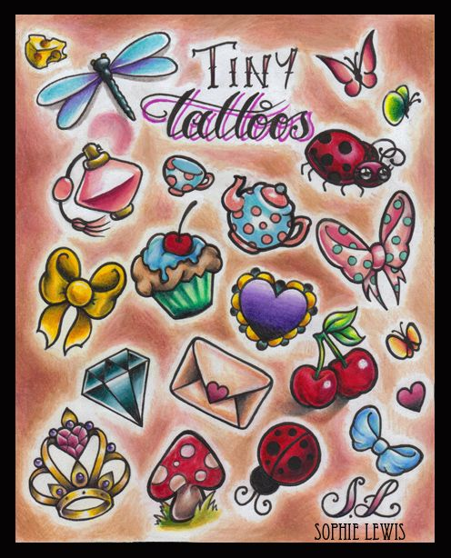 New School Girly Tattoos: Traditional Tattoos Flash Girly - Google Search