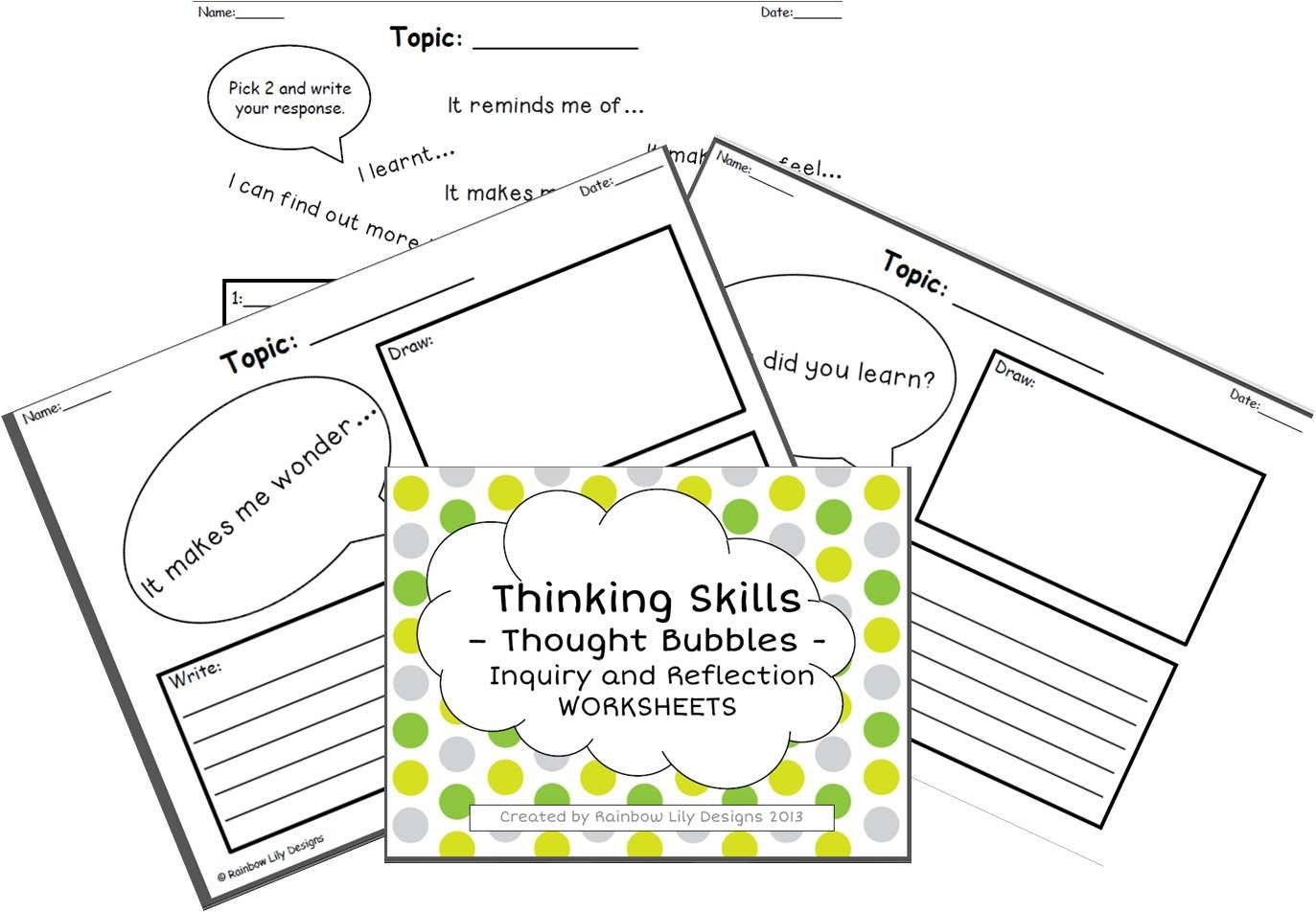 Inquiry And Reflection Thinking Skills