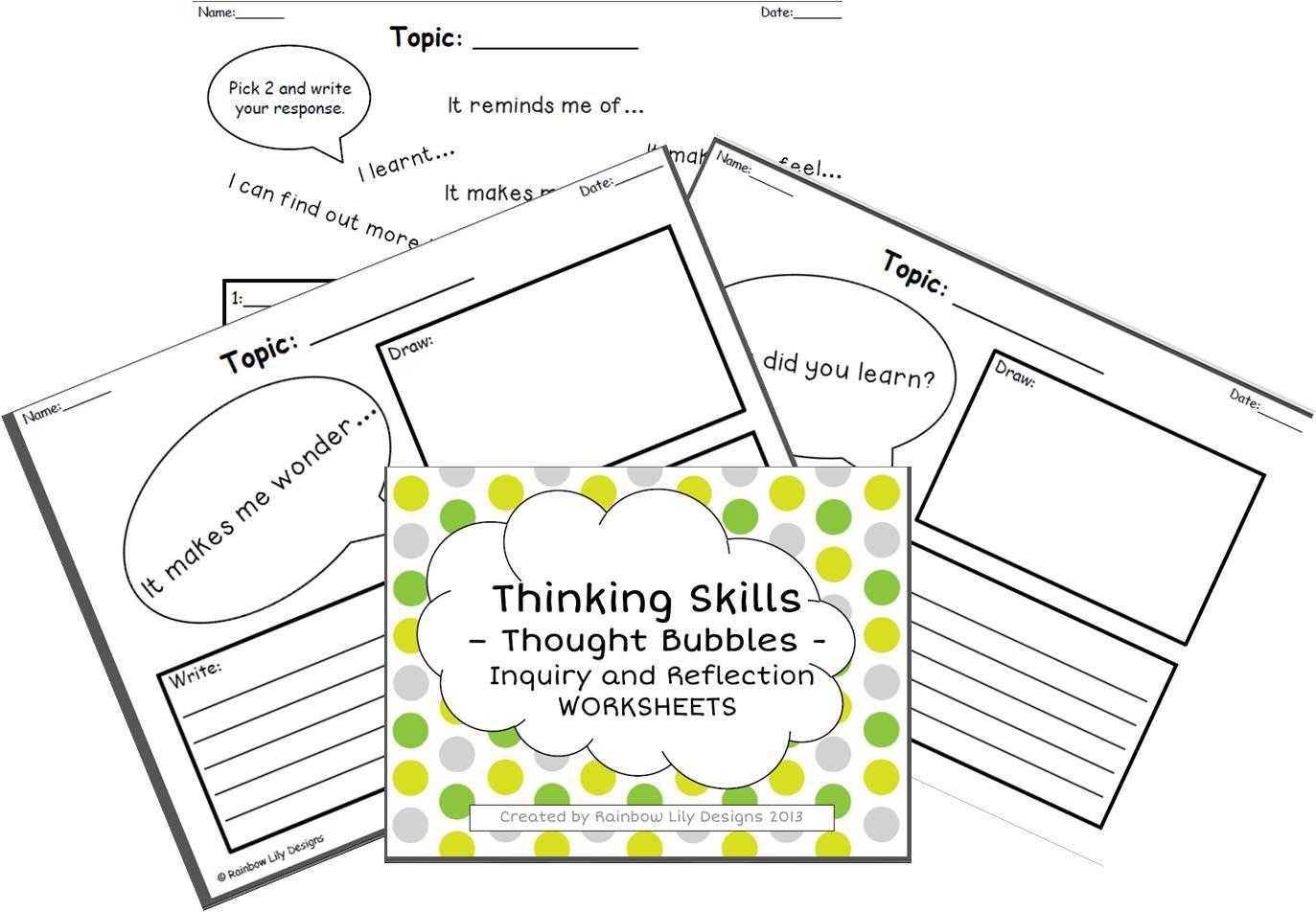 Inquiry And Reflection Thinking Skills
