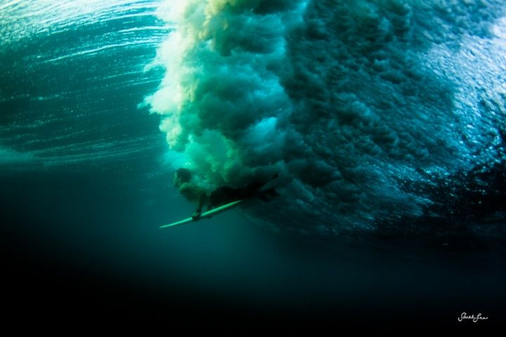 Underwater Wave Photography by Sarah Lee