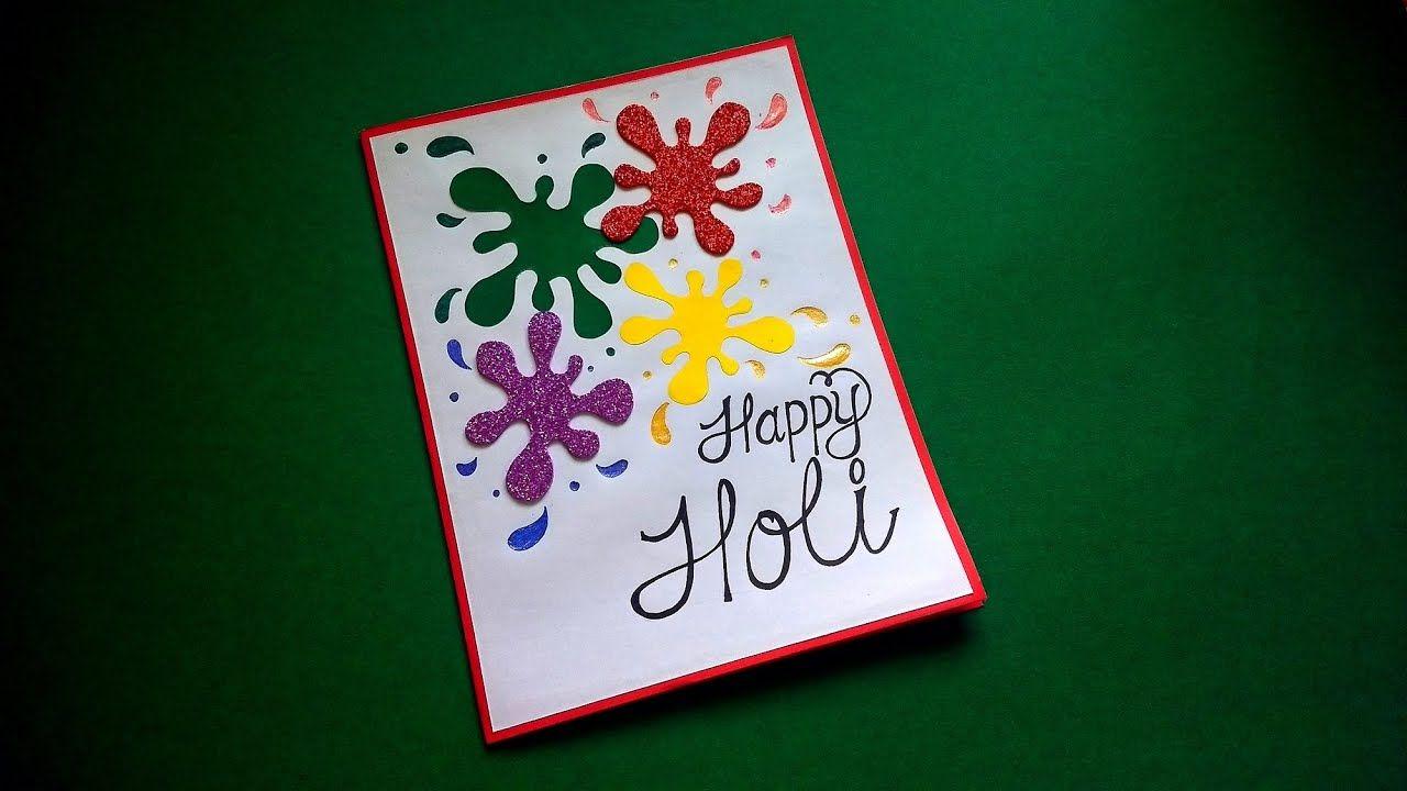 beautiful handmade holi card making at home  complete