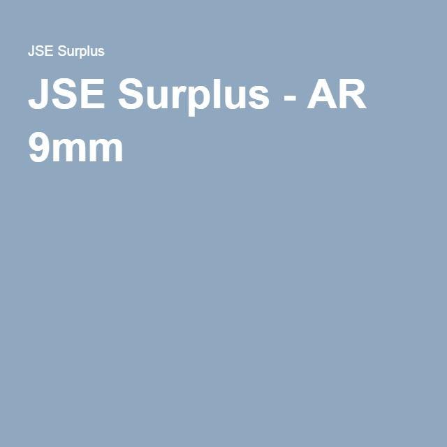JSE Surplus - AR 9mm | AR 9 | Tactical solutions, Rock river