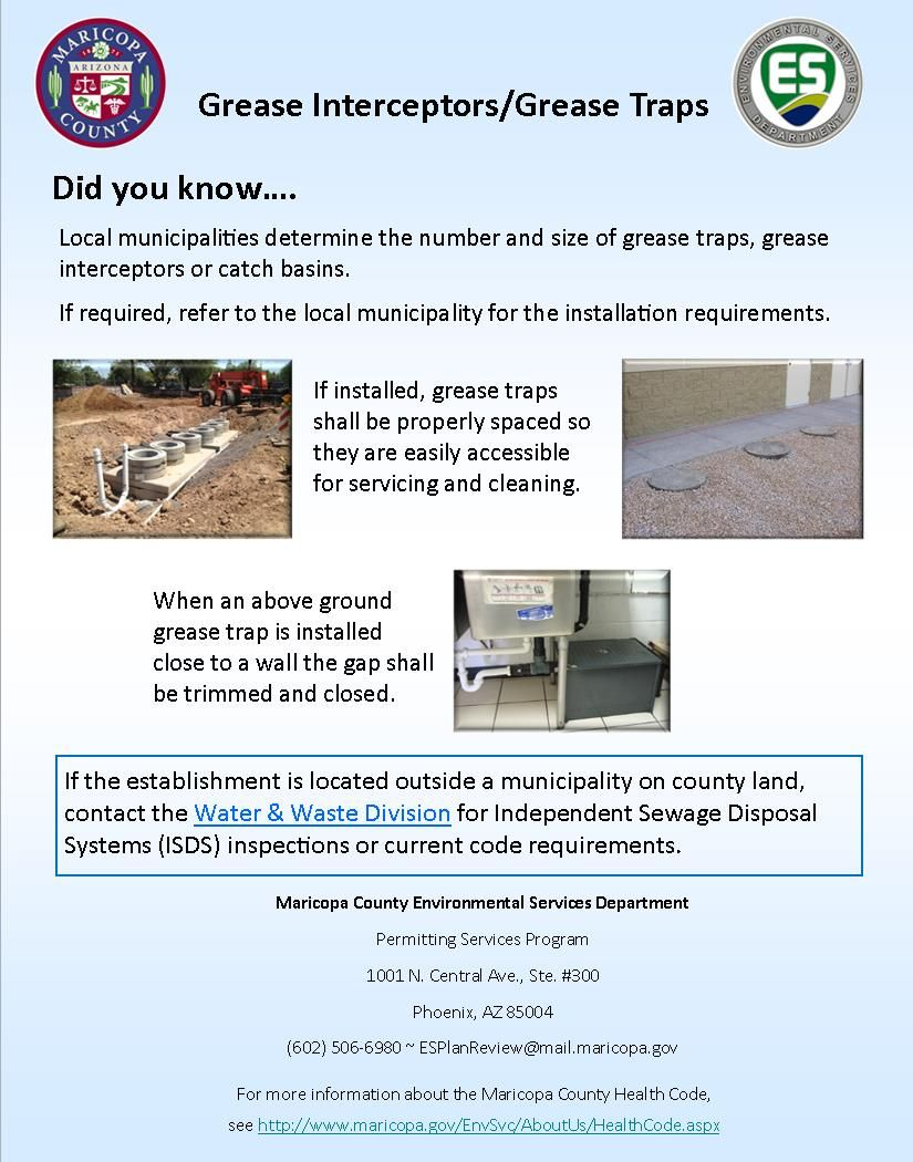Permitting services tip of the week grease traps